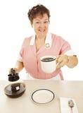 koppen har den joe servitrisen Fotografering för Bildbyråer