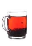 Koppen met thee op witte achtergrond Stock Foto's