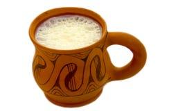 koppen mjölkar Arkivfoto