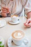 Koppen van heerlijke koffie Royalty-vrije Stock Fotografie