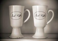 Koppen van Irish coffee royalty-vrije stock foto's
