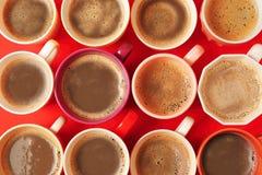 Koppen van koffie Stock Foto
