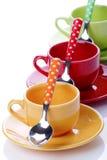 Koppen van koffie Stock Foto's