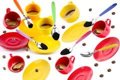 Koppen van koffie Stock Afbeeldingen