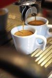 2 koppen van koffie Stock Afbeelding