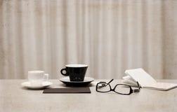 koppen van koffie, glazen Royalty-vrije Stock Foto