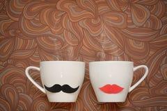 Koppen van verse koffie Royalty-vrije Stock Foto