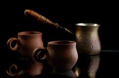 Koppen voor koffie Stock Foto's