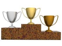 Koppen voor winnaars vector illustratie