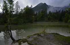 Koppenwinkelsee - Mysterious Lake in Alps. Obertraun, Austria. Koppenwinkelsee is a small lake at the foot of the Dachstein Plateau in Obertraun. In Autumn Lake royalty free stock images