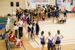 koppG-gymnastik italy p t Royaltyfria Foton