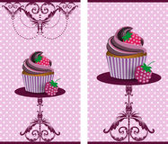 Koppkaka royaltyfri illustrationer