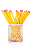 koppkontoret pencils yellow Royaltyfri Foto