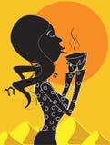 koppkvinna vektor illustrationer