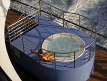 koppla av för cruiseship royaltyfri bild
