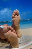 koppla av för feets royaltyfri foto