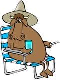 koppla av för ko stock illustrationer