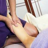 koppla av för massage Arkivbilder