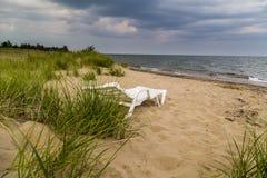 koppla av för strand Arkivfoton