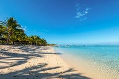 Koppla av ferier i tropiskt paradis Mauritius ö Fotografering för Bildbyråer