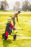 Koppla av med golf Fotografering för Bildbyråer