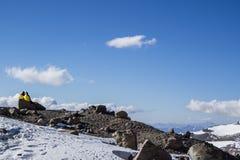 Koppla av på berget Royaltyfri Fotografi