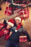 Koppla av på julferie Arkivfoto