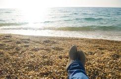 Koppla av på stranden Royaltyfria Foton