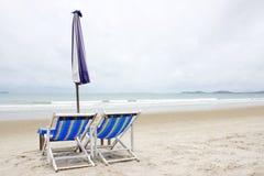 Koppla av på stranden Royaltyfri Fotografi