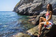 Koppla av på stranden Sorgeto Royaltyfri Bild