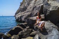 Koppla av på stranden Sorgeto Royaltyfri Foto
