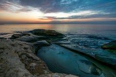 Koppla av soluppgång över havet Royaltyfri Fotografi