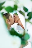 Koppla ihop att kyssa Royaltyfri Foto