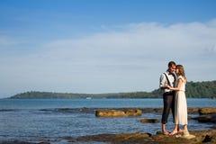 Koppla ihop i bröllopsresan Royaltyfria Bilder