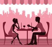 Koppla ihop i cafen Royaltyfri Bild