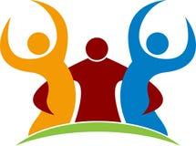 Koppla ihop logoen Arkivbild