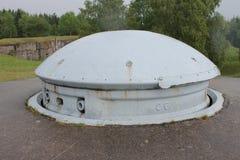 Koppla samman fortet Froideterre, Frankrike för det 75mm vapentornet WW1 Arkivfoton