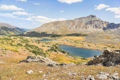 Koppla samman sjöar, sörja dalen, den college- maximumvildmarken, piken och S Royaltyfri Bild