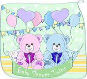 Kopplar samman baby shower, Arkivbild