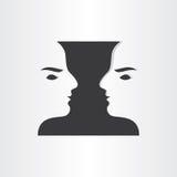 Kopplar samman design för abstrakt begrepp för pojkespegelsymbol Royaltyfri Bild