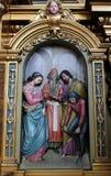 Koppling av den jungfruliga Maryen Arkivfoton