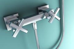 koppling för rostfritt stål 3d royaltyfri illustrationer