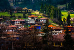 Koprivshtitsa-Stadt in Bulgarien stockbild