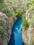Koprulu峡谷的河 免版税库存照片