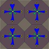 Koptisch dwars naadloos tegelpatroon Royalty-vrije Stock Afbeeldingen