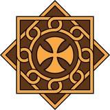 Koptisch kruis in decoratief eenheid en patroon, Hoge nauwkeurigheid, nr 21 stock illustratie