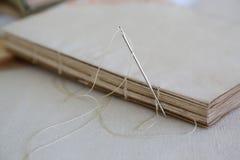 Koptyjska oprawa handmade agenda Zdjęcie Royalty Free