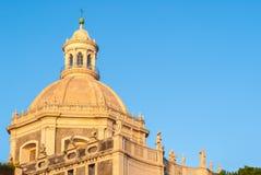 Kopuła barokowy kościół w Catania (Badia Di sant'Agata) Obrazy Stock