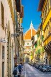 Kopuła Florencja Duomo, Cattedrale di Santa Maria Del Fiore, bazylika Świątobliwy Mary kwiat katedra obrazy royalty free