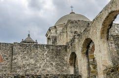 Kopuła kąt kościół przy misją San Jose w San Antonio, Te Obraz Stock